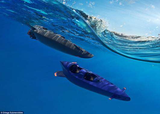 The Ortega Submersible has been billed as the 'fastest, safest and most versatile submersible boat in the world'