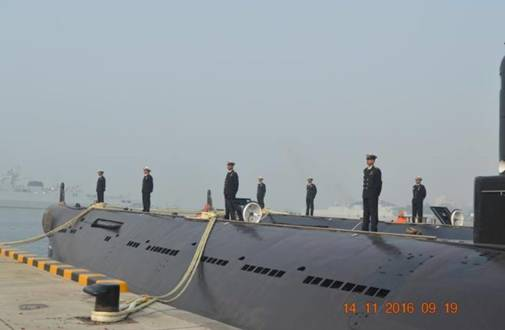 Navy submarines dock in Chittagong port
