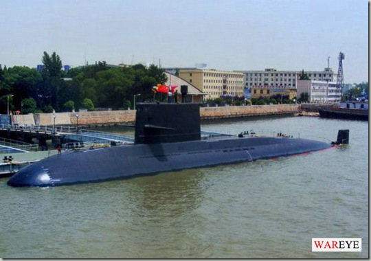 Chinese Yuan-class submarine docked naval naval